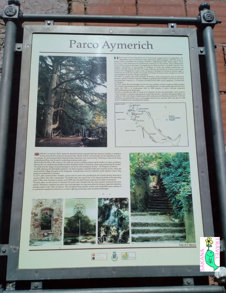 Parco Aymerich Laconi Signpost and Map